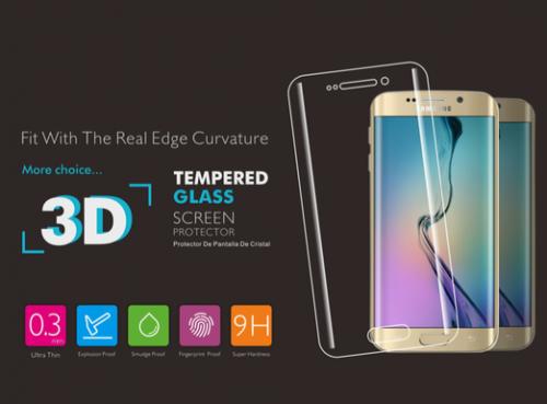3D Verre trempé Pour Samsung S6 Edge Plus(0.2mm)Noir