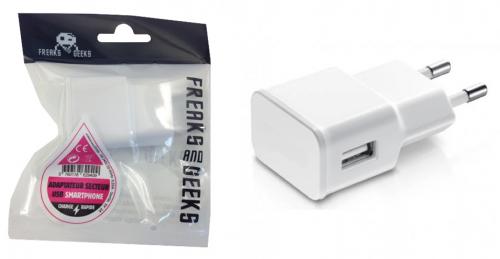 Adaptateur secteur USB Blanc Charge Rapide 2A