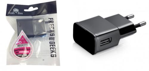 Adaptateur secteur USB Noir Charge Rapide 2A