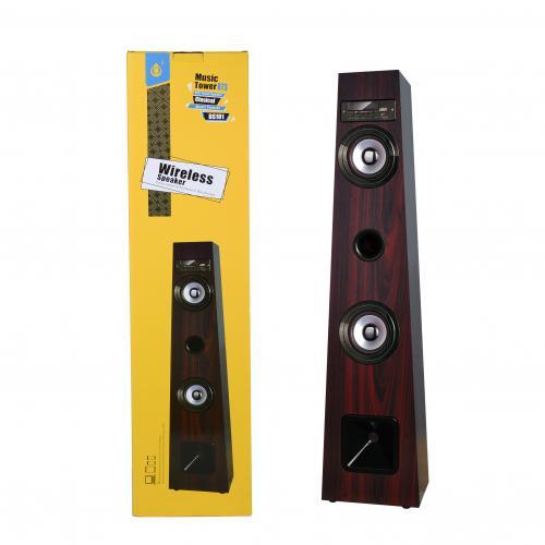 Enceinte BS101 Bluetooth/port USB/carte/FM bois 10W