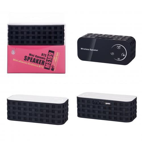 Enceinte MS109 Bluetooth/port USB/carte/FM Noir 3W + 3W