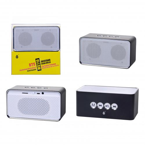 Enceinte MS110 Noire Bluetooth, carte, FM, 3W + 3W
