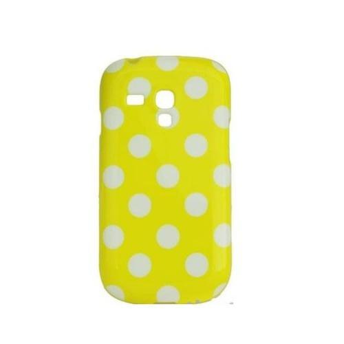 Etui Housse Coque Pois Polka Multicouleur Galaxy S3 Mini - Jaune