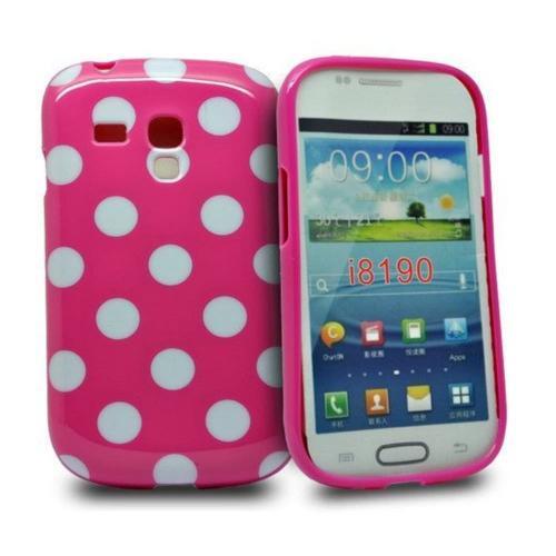 Etui Housse Coque Pois Polka Multicouleur Galaxy S3 Mini - Rose