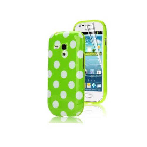 Etui Housse Coque Pois Polka Multicouleur Galaxy S3 Mini - Vert