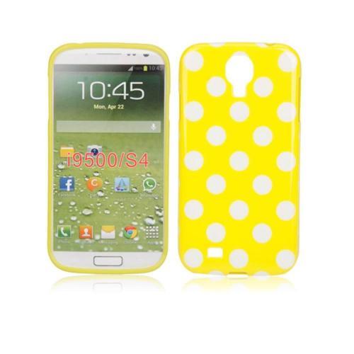 Etui Housse Coque Pois Polka Multicouleur Galaxy S4 - Jaune