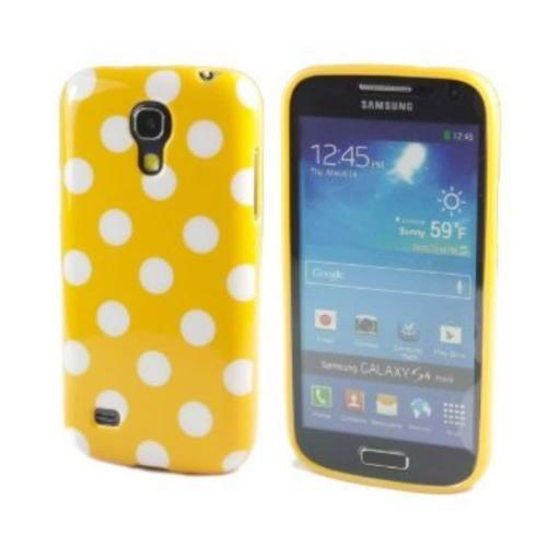 Etui Housse Coque Pois Polka Multicouleur Galaxy S4 Mini - Jaune