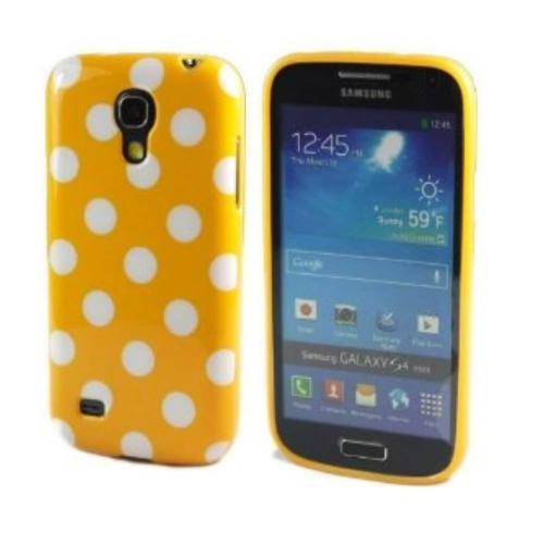 Etui Housse Coque Pois Polka Multicouleur Galaxy S4 Mini - Orange