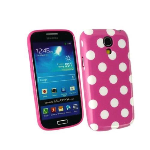 Etui Housse Coque Pois Polka Multicouleur Galaxy S4 Mini - Rose
