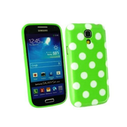 Etui Housse Coque Pois Polka Multicouleur Galaxy S4 Mini - Vert