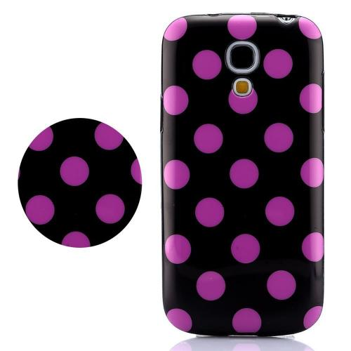 Etui Housse Coque Pois Polka Multicouleur Galaxy S4 Mini - Violet