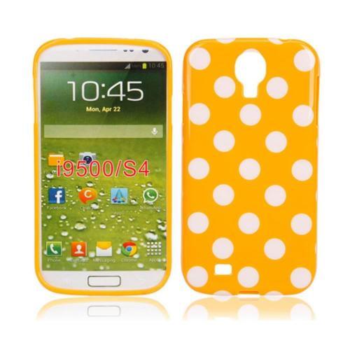 Etui Housse Coque Pois Polka Multicouleur Galaxy S4 - Orange
