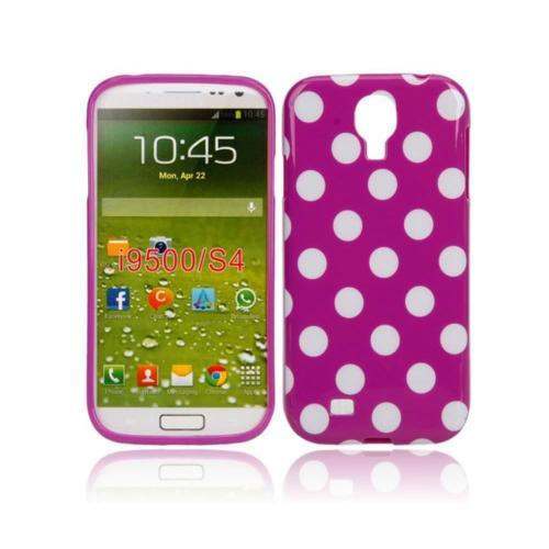Etui Housse Coque Pois Polka Multicouleur Galaxy S4 - Rose