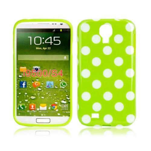 Etui Housse Coque Pois Polka Multicouleur Galaxy S4 - Vert