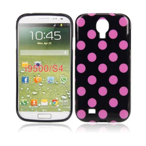 Etui Housse Coque Pois Polka Multicouleur Galaxy S4 - Violet