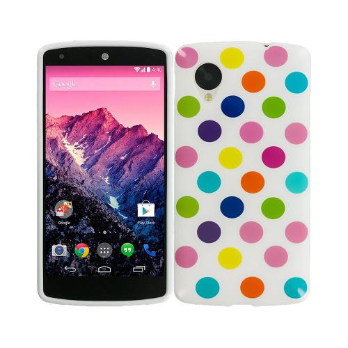 Etui Housse Coque Pois Polka Multicouleur Nexus 5 - Multi-B