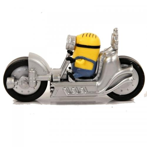 Figurine Minion moto silver  - 7 à 8 cm