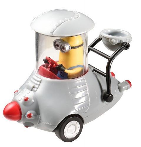 Figurine Minion voiture grise à trois roues  - 7 à 8 cm