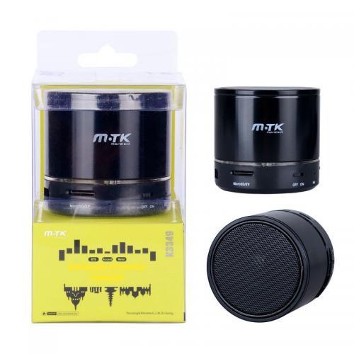 Mini Enceinte Bluetooth K3349 Noire (lecteur USB + Carte Micro SD) 3W