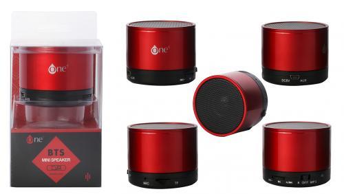 Mini Enceinte Bluetooth Rouge 3W